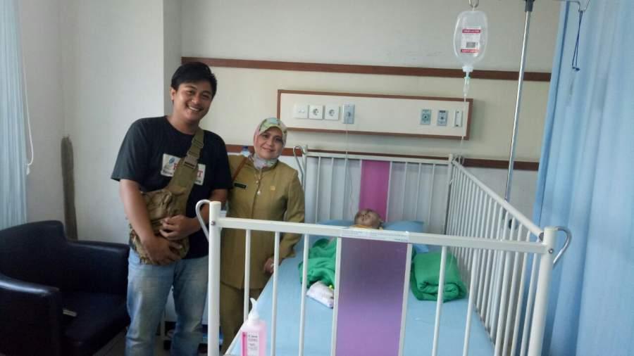 Penderita Hydrocephalus saat dirawat di RSUD Kota Tangerang.