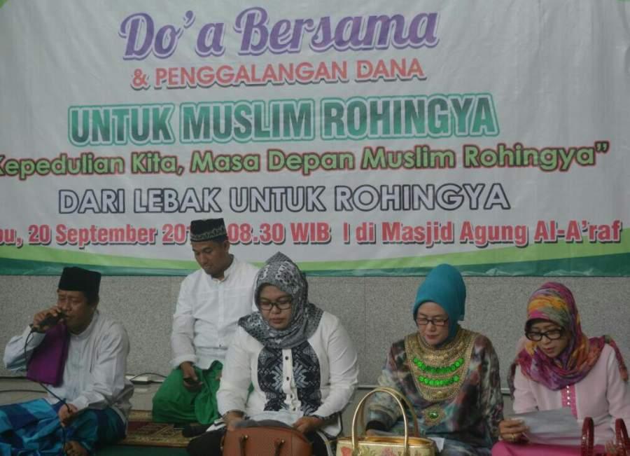 Doa bersama untuk Rohingya di Lebak.